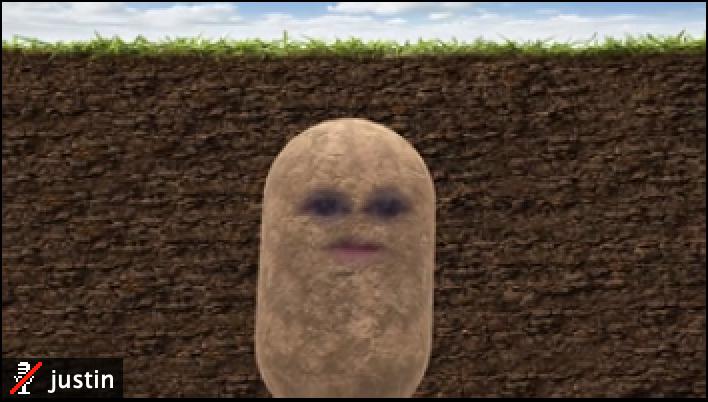 Sensu Engineer Justin as potato