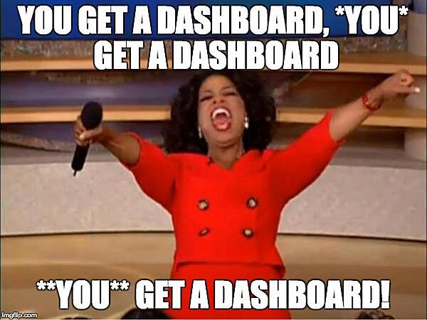 You get a dashboard