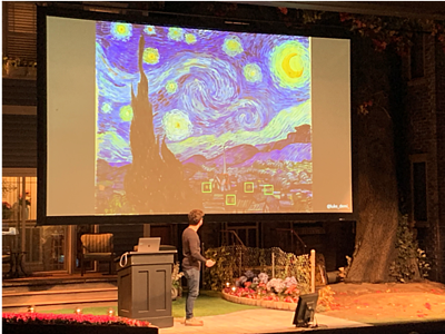 Luke Demi of Coinbase uses Vang Gogh's Starry Night as an example of the importance of context.