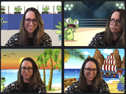 Just a few of the Lizy Zoom background options, to make your work from home experience a little better!