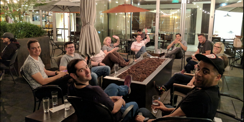 Good times with attendees at Hotel Modera!